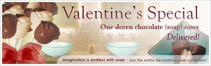 decorative soap - valentines roses