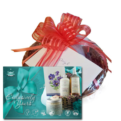 gift basket with card