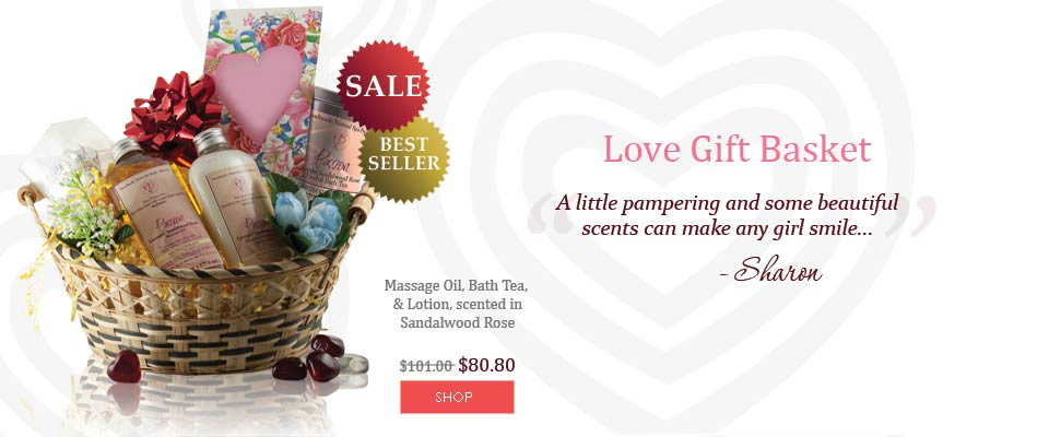 buy love gift basket valentines