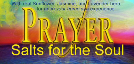 prayer bath salt label - original