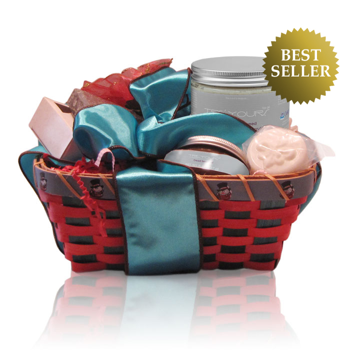 Anti-Aging Spa Gift Basket - Dea Sea Mud Scrub, Soaps, & Aromatherapy