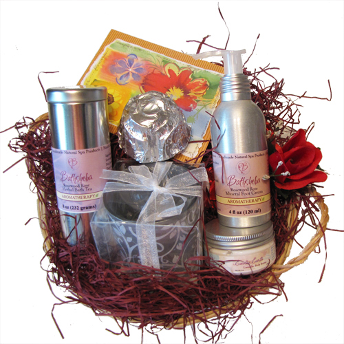 Pampering For Her Spa Gift Basket Tea Foot Cream Soap