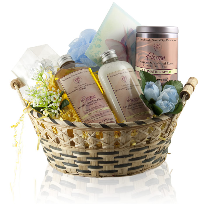 Sensual Get Well Spa Gift Bag Passion Oils Organic