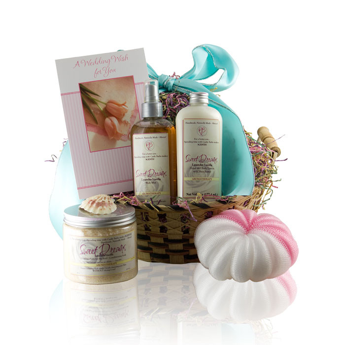Spa Bath Natural Wedding & Shower Gift Basket