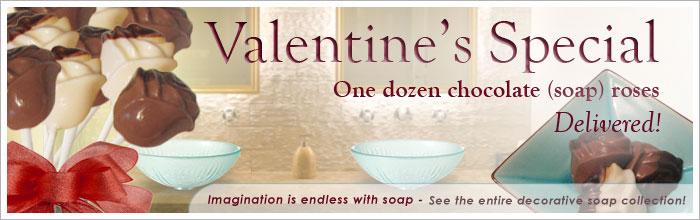 decorative soap - valentines roses